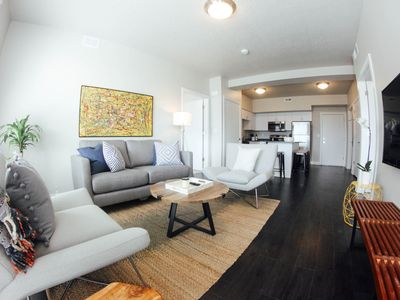 Photo for Luxury 2BR/2BA Flat Steps from Light Rail w/ Views - 410