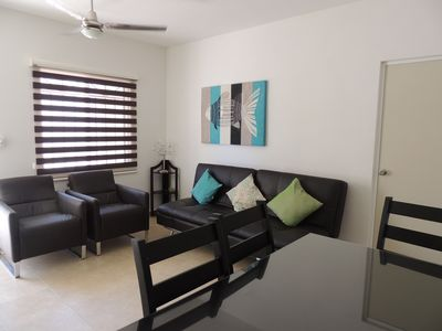 Photo for Comfortable apartment 10 minutes from beach mamitas with wifi