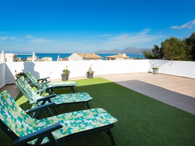 Photo for Modern Holiday Home with Wi-Fi and Air Conditioning, Rooftop Terrace and Sea View; Parking Available