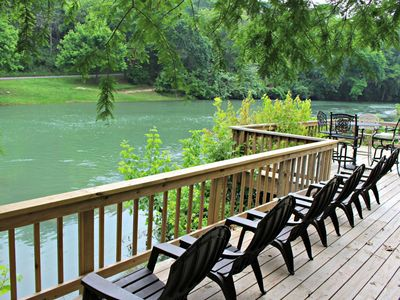 Photo for Guadalupe River Getaway- 140 Feet of Beautiful Waterfront!