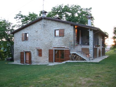 Photo for Apartment in agriturismo with swimming pool, surrounded by olive trees and vines