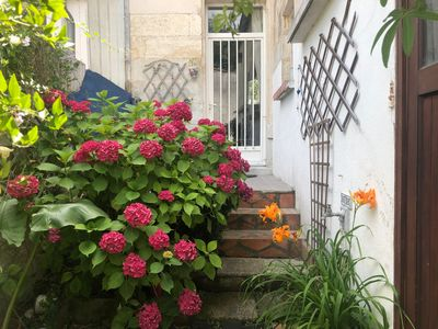 Photo for Riverside house in tranquil village 3km from Jarnac