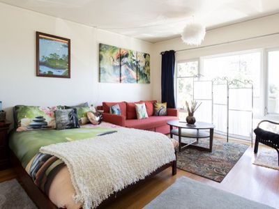Photo for Zen Den Studio in the N. Berkeley Hills! Hot Tub & Bay Views! Pet Friendly!