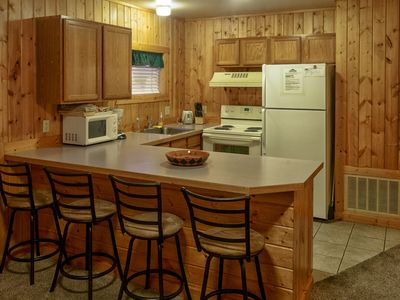 Photo for Cozy Cabin In Town, Walk to Shops & Restaurants, 1 Hour to Old Faithful