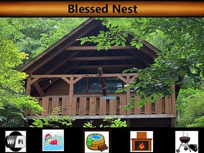 "Photo for ""Blessed Nest"" Mountain Views / Wifi / Hot Tub / Jacuzzi Tub  / Pool Access"