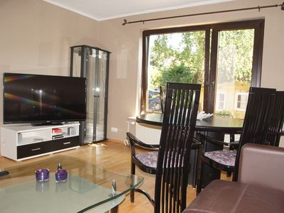 Photo for Furnished 4-room apartment, 90 m², parking space, quiet location, good access.
