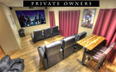 """Perfect Theater room with 120"""" screen!"""