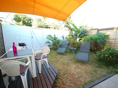 Photo for Small town house with garden 700m from the beach.