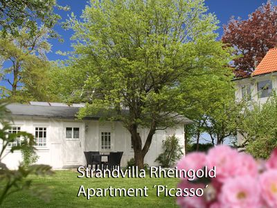 Photo for Excl., Near the beach apartment on the property of the beach villa Rheingold