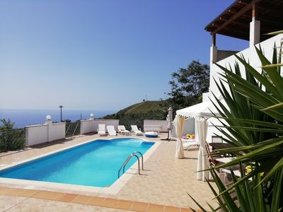 Photo for Sea view villa with pool