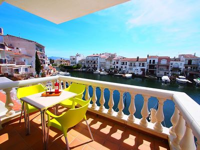 Photo for Apartment 303 m from the center of Empuriabrava with Internet, Washing machine, Terrace (319993)