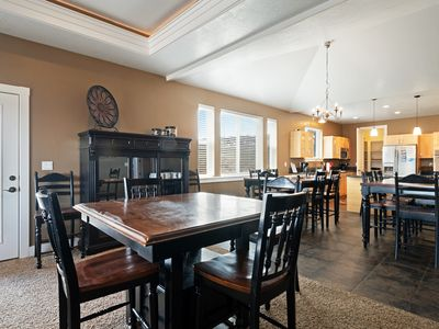 Photo for Elegant lake view home w/ private hot tub, game/theater rooms, firepit & playset