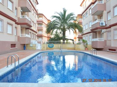 Photo for 2 bedroom 6 sleeps apartment Alicante, Costa Blanca, Spain, Swimming Pool, TV43""