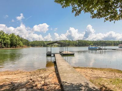 Covered Dock comes with your rental at 4046   White Oak Dr. Appling GA