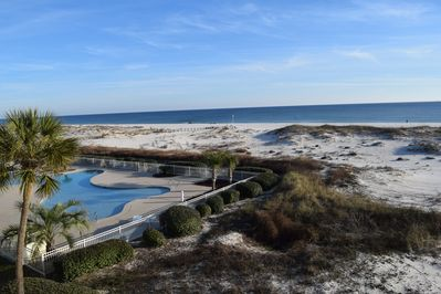 Direct Gulf View And Pool View From Your Balcony is a Great Place to Relax