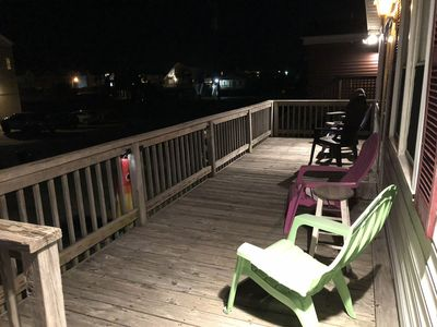 Enjoy the cool summer night air on our large front deck.