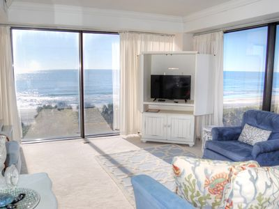 Stunning oceanfront views in beautiful light and airy condo!
