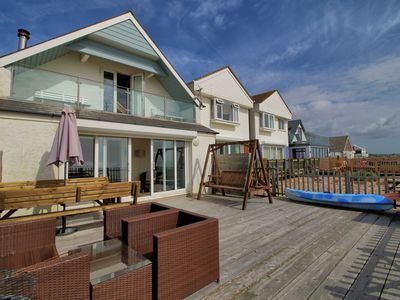 Photo for ***Amazing Beachfront Holiday Home on Pevensey Bay, with use of Kayak too!!!***
