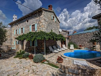 Photo for Stone villa with private pool, 5 bedrooms, WiFi, 3 bathrooms, washing machine, terrace and great barbecue