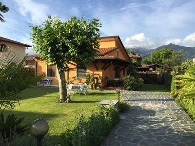 Photo for Independent villa, 300sqm of garden, free WiFi, two bedrooms and two bathrooms.