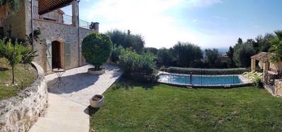 Photo for Superb Villa A/C , heated pool , panoramic sea views & great village location