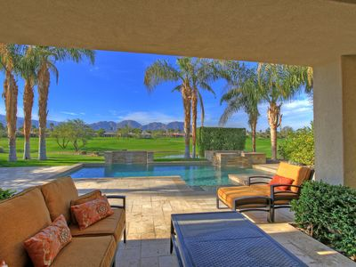 Photo for 227LQ  PGA WEST 9TH FAIRWAY OF THE WEISKOPF PRIVATE 3 BEDROOM 3.5 HOME AMAZING MOUNTAIN VIEWS