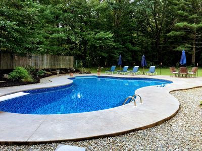 Photo for Spacious Saratoga Farmhouse with Saltwater Pool, near the Track and Lake
