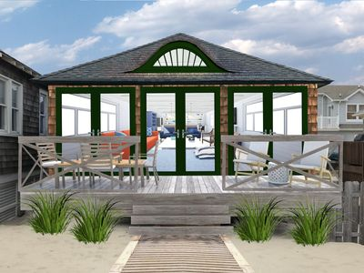 Photo for Family-friendly Beachfront Bungalow on the Boardwalk w/parking!