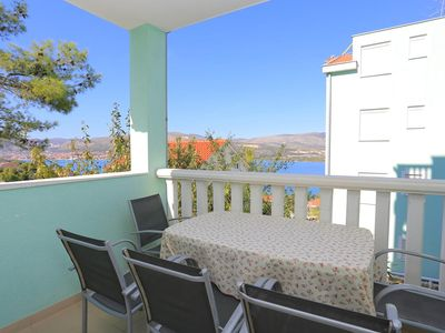 Photo for Two bedroom apartment with terrace and sea view Mastrinka, ÄŒiovo (A-11717-b)