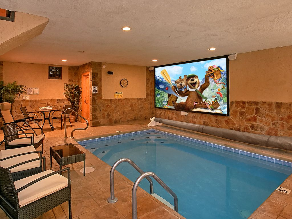 Private indoor pool  Skinny Dippin: Amazing Cabin with Private Indoor Pool, Pool ...
