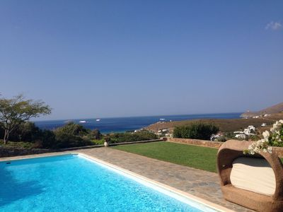 Photo for Luxurious villa,private swimming pool,amazing sea views,100 km hiking  paths.