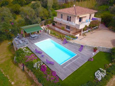 Photo for Villa paradise | Porticcio | 12 people between sea and scrubland with pool