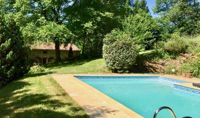 Photo for French Farmhouse. Private pool, sleeps 10+. Gorgeous rural setting near sights