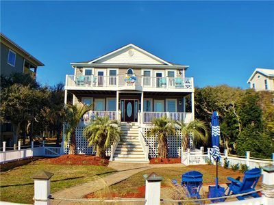 Photo for Summer Days Cooler Nights: 4 BR / 3.5 BA house in Topsail Beach, Sleeps 10