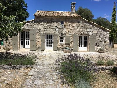 Photo for PRETTY SHEEP IN THE GARRIGUE WITH SWIMMING POOL
