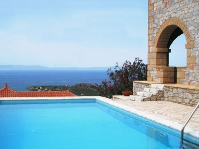 Photo for Villa Ialeira in Stoupa, private pool, spectacular sea views, very quiet area.