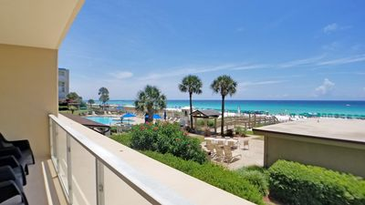 Photo for FIRST FLOOR!  Panoramic VIEWS Of The GULF!  Sleeps 11!  Free Beach Chair Set Up!