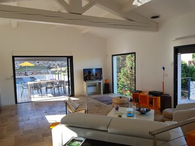 Photo for BORMES LES MIMOSAS New villa with pool for 8 people