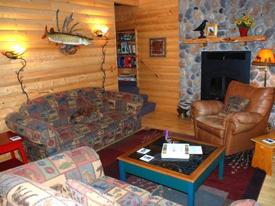 Photo for Rent 5 nghts, get 2 more FREE: Luxury lakeside cabin 25 miles from Itasca Park