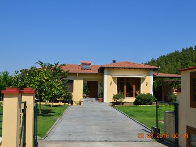 Photo for Beautiful spacious brand new villa of 160 m2 near the sea and the forest