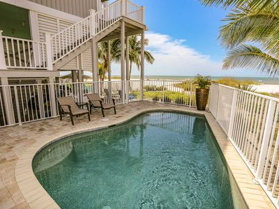 Photo for Enjoy breathtaking views in this 3 bedroom/3 baths beachfront home that sleeps up to 8 guests is located on the north end of Fort Myers Beach.
