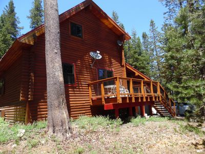 Charming Alpine Log Cabin  A Short Walk To The Lake and 5 Min From Ski Resorts