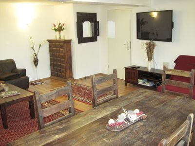 Photo for Lovingly renovated, fully furnished 70 sqm apartment in an old half-timbered house