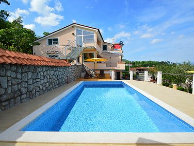 Photo for Above Opatija A2... pool with relaxed panoramic view...