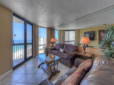 Photo for Coastal top-floor condo! Incredible coastline views! Kid's splash pad on-site and free Wi-Fi!