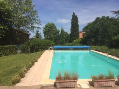 Photo for Charming two bedroom gite with pool near Albi, a UNESCO city