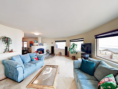 Living Room - Welcome to Morro Bay! Your rental is professionally managed by TurnKey Vacation Rentals. (Please note the fireplace is not operational.)