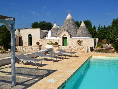 Photo for TRULLO PACE FANTASTICO PLACE WITH POOL AND WIFI