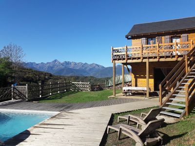 Photo for Cottage with character with exclusive pool and exceptional view of the Pyreneans