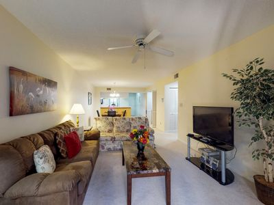 Photo for Coastal condo w/ shared hot tub, pools & entertainment - beach nearby!